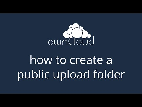 Creating a public upload folder in ownCloud 8.1