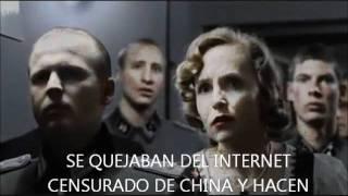 Hitler se entera de que el FBI cerró Megaupload, Megavideo y Megaporn