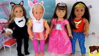 Vestimos a Muñecas con Disfraces de Unicornio, Sirena Princesa Superheroe - Videos Infantiles