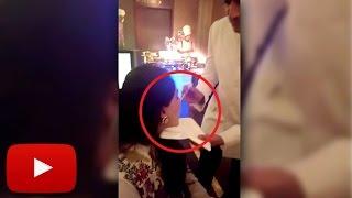 (VIDEO) Riteish Deshmukh Feeding Wife Genelia At Bipasha Basu's Marriage | LehrenTV
