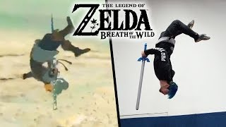 Stunts From Legend Of Zelda: Breath Of The Wild In Real Life (Parkour)