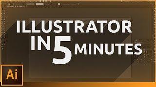 Learn Illustrator in 5 MINUTES! Beginner Tutorial