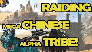 RAIDING MEGA CHINESE ALPHA TRIBE! | ARK Official Server