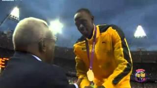 Usain Bolt singing  Jamaican National Anthem OLYMPICS LONDON 2012 August 6, 2012