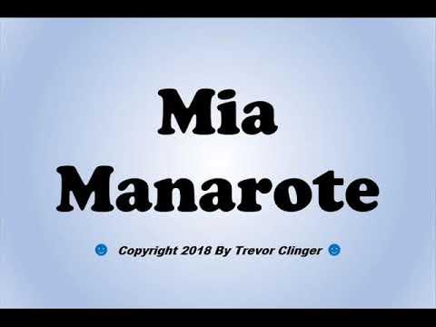 Xxx Mp4 How To Pronounce Mia Manarote 3gp Sex