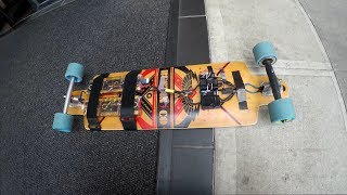 Faster than Boosted Boards - Mellow board hubs on 12S2P 20700B cells