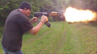 AK47 SBR with Dual Mag