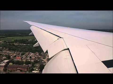 Etihad Airways Boeing 777 300ER from Abu Dhabi landing into London Heathrow LHR