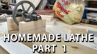HomeMade Lathe Part 1 - finding parts and getting started (torno casero)
