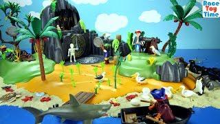 Playmobil Pirates Adventure Treasure Island Toy Set with Sea Animals Toys For Kids
