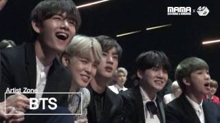 [2016MAMA x M2] BTS Reaction to Gallant's performance