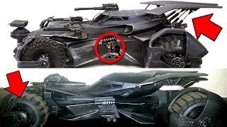 Batman vs Superman - Justice League - Batmobile Comparison In Depth Analysis