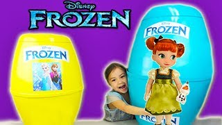 🎁 Giant Disney Frozen Surprise Eggs Toys Unboxing with Dolls, Fashems and more Inside!