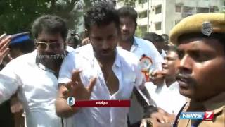 Actress Sangeetha talks through phone about the attack on Vishal | Tamil Nadu | News7 Tamil