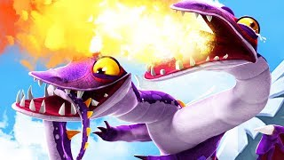 TWO HEADED DRAGON BURNS EVERYTHING - Hungry Dragon Gameplay Part 5 | Pungence