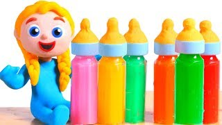 LITTLE PRINCESS TASTES NEW BABY BOTTLE FLAVOURS ❤ SUPERHERO PLAY DOH CARTOONS FOR KIDS