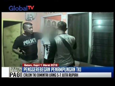 Human trafficking sebuah rumah penampungan TKI di Batam digerebek polisi BIP 02 03