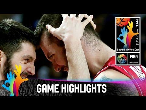 watch France v Serbia - Game Highlights - Semi-Final - 2014 FIBA World Cup