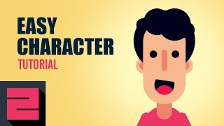 Vector Easy Flat Character, Illustrator Tutorial, ZipUp