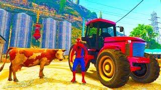 Spiderman Farmer Traktor Nursery Rhymes Songs for Children