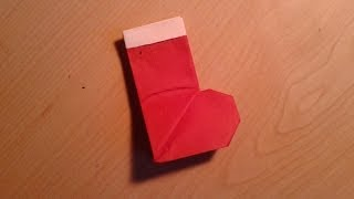 Origami Christmas Stocking/Santa Boot - Easy Tutorial
