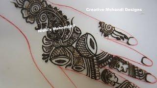 Shehnai Tabla Design in Arabic Henna Mehndi Tutorial