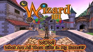 Wizard101 WOW!  Whats All This Stuff in My Gift Boxes?
