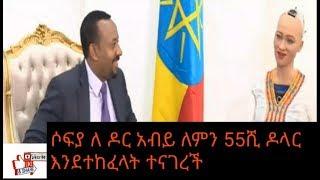 Ethiopia Dr Abiy   ጠ ሚ አብይ ሶፊያን አናገሩ Prime Minister Dr Abiy Meets Sophia,