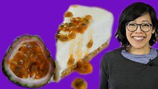 Passion Fruit NO-BAKE Cheesecake - Fruity Fruits