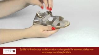 181860 Papete Infantil Klin Couro e Sintético Taupe