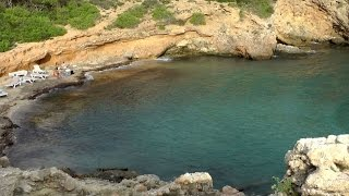 Spain '13 - Balearic Island Ibiza - east coast - small rocky bay Cala Olivera