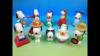 2018 PEANUTS SNOOPY SET OF 10 McDONALDS HAPPY MEAL KIDS TOYS VIDEO REVIEW