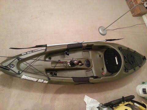 Poor man 39 s fishing kayak rigging update 2014 vidoemo for Fishing kayak under 300