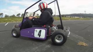 High Power DIY Electric Go Kart Drifting and Donuts