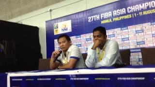 Chot Reyes post-win vs Japan 2013 FIBA Asia