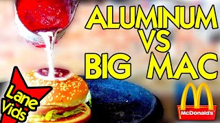 What Happens If You Pour Molten Aluminum On A McDonald's Big Mac?