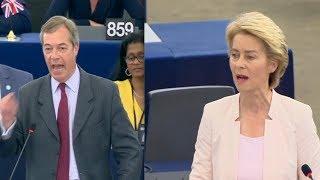 Nigel Farage CLASHES with Ursula von der Leyen: