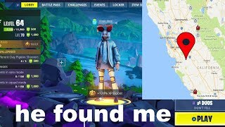 I put my ADDRESS in my Fortnite Name and THIRSTED every kill...