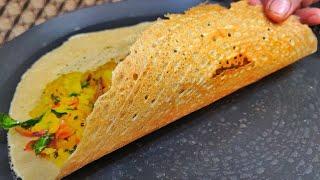 नाश्ते के लिए बनाये आटे का डोसा हल्का फुल्का सेहतमंद वो भी मिनटों में Instant atta dosa recipe