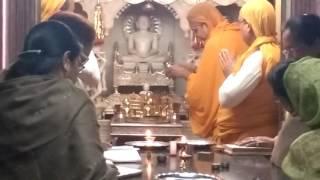 Morning Shanti Dhara at Jain temple
