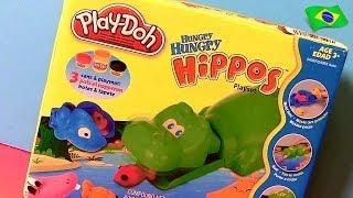 Play Doh Hipopótamo Faminto Come Carrinhos Disney - Hungry Hungry Hippos Eats Cars Micro Drifters