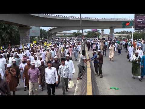 RAW FOOTAGE - Muslims March in Dhaka, Bangladesh