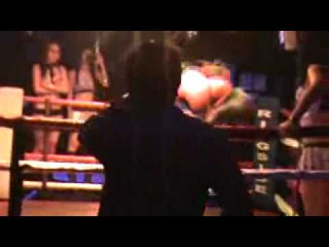 Lady Boxing at Ringside