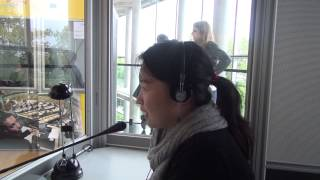 Student interprets into Chinese at European Parliament Open Day 2013 in Strasbourg