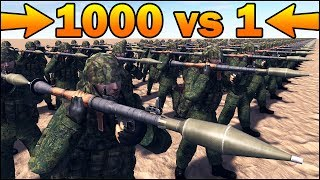 1000 RPG-7 vs 1 MODERNIZED LANDKREUZER P.1000 RATTE - MISSION IMPOSSIBLE - Call to Arms Scenario #9