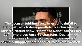 Aziz Ansari responds to accusation of sexual assault, says sex was consensual