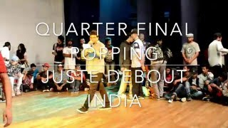 JUSTE DEBOUT INDIA 2016 1/4 POPPING | YAGFUNKY, ASKHAT vs VINEET N ASTHIK