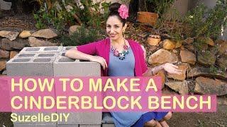 How to Make a Cinderblock Bench