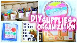 DIY Back to School Supplies | Organization