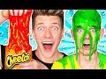 Mystery Wheel of Slime Challenge! *HOT CHEETOS SLIME* Learn How To Make DIY Switch Up Oobleck Food